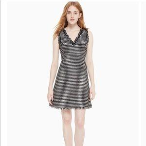 Kate Spade | Black/ Cream Houndstooth Tweed Dress